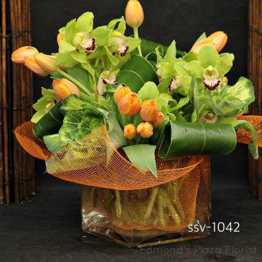 Square Vase Arrangments