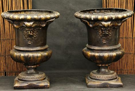 Faux Bronze Urns